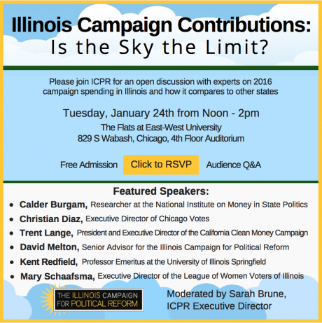 At This Free Forum By Icpr Experts Will Discuss 2016 Illinois Campaign Spending In Both A State And National Context